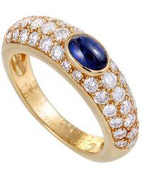 Cartier - Cartier 18k 0.75 Ct. Tw. Diamond & Sapphire Ring - Lyst