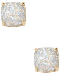 Kate Spade - Small Square Studs - Lyst