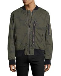 Hudson Jeans - Knox Exposed Cotton Bomber Jacket - Lyst
