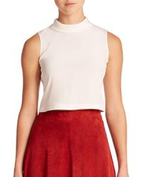 Elle Sasson - Tess Silk Crop Top - Lyst