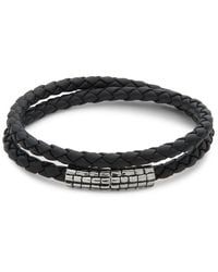 Effy - Sterling Silver And Leather Bracelet - Lyst