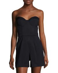 Paper Crown - Catalina Bustier Romper - Lyst