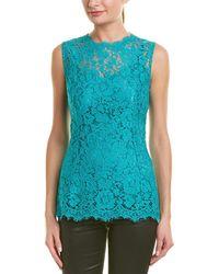 9d0806d205b81 Dolce   Gabbana Denim Crop Top in Blue - Lyst