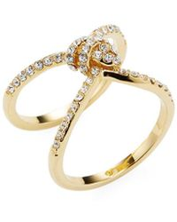 Kate Spade - 12k Yellow Gold Plated Infinity & Beyond Pave Knot Ring - Lyst