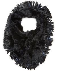 Jocelyn - Oversized Rabbit Fur Infinity Scarf - Lyst