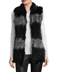 Love Token - Giulianna Rabbit Fur Vest - Lyst