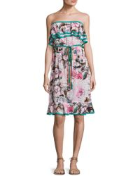 Plenty by Tracy Reese - Floral Print Flounce Dress - Lyst