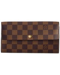 Louis Vuitton - Damier Ebene Canvas Sarah Wallet - Lyst