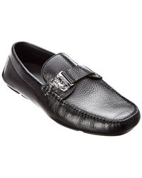 Versace Leather Moccasin