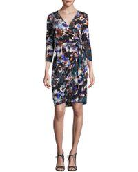 Maggy London - Shadow Flower Jersey Wrap - Lyst