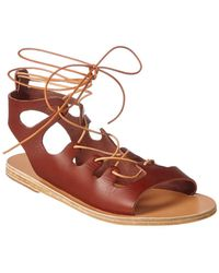 Ancient Greek Sandals Sandals Antigone Leather Sandal - Brown