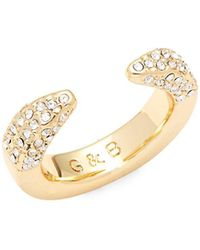 Giles & Brother - Crystal Studded Open Ring - Lyst