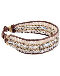 Chan Luu - Mystic Labradorite & Crystal Leather Bracelet - Lyst