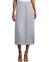 Lea & Viola - Pleated Midi Skirt - Lyst