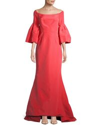 Carolina Herrera - Off-the-shoulder Silk Gown - Lyst