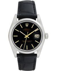 Rolex - Vintage Rolex Stainless Steel Date Watch, 34mm - Lyst
