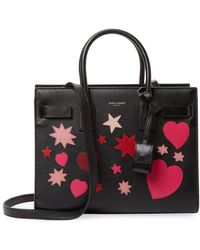 Saint Laurent - Heart And Star Patch Tote Bag - Lyst