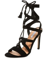 Elorie - Liza Suede Lace-up Sandal - Lyst