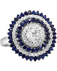 Diana M. Jewels - . Fine Jewelry 14k 2.04 Ct. Tw. Diamond & Blue Sapphire Ring - Lyst