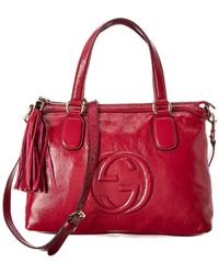 Gucci - Red Patent Leather 2way Soho Bag - Lyst