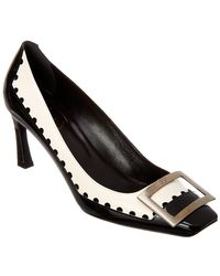 Roger Vivier - Trompette Perfo Graphic Court Shoes - Lyst