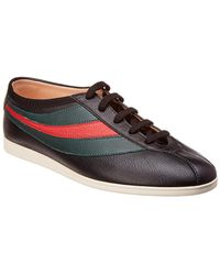 312b92b6dea34 Lyst - Gucci Gg Supreme Canvas   Leather Low-top Sneaker in Black ...