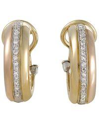 Cartier - Cartier 18k Tri-color Drop Earrings - Lyst