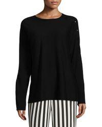 Tibi - Ribbed Merino Wool Sweater - Lyst