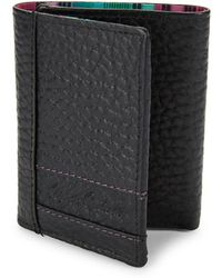 Robert Graham - Wallace Embossed Leather Tri-fold Wallet - Lyst