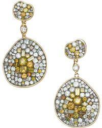 Plevé | 18k Yellow Gold Yellow Galaxy Diamond Galaxy Earrings | Lyst