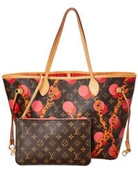 a93b5d89ea0f Louis Vuitton - Limited Edition Ramages Monogram Canvas Neverfull Mm Nm -  Lyst