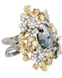 Diana M. Jewels - . Fine Jewellery 18k 22.00 Ct. Tw. Multicolour Diamond Ring - Lyst