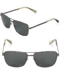 Ermenegildo Zegna - 61mm Aviator Sunglasses - Lyst