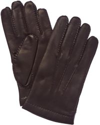 Portolano - Men's Chocolate Cashmere-lined Leather Gloves - Lyst