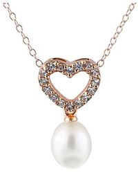 Splendid - Gold Over Silver 7-7.5mm Freshwater Pearl Necklace - Lyst