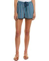 Figue - Maja Striped Pompom Hem Shorts - Lyst