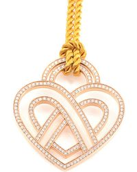Poiray - 18k Rose Gold 1.21 Ct. Tw. Diamond Toggle Necklace - Lyst