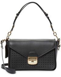 Longchamp - Perforated Panel Shoulder Bag - Lyst
