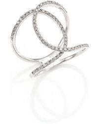 EF Collection - Pave Diamond & 14k White Gold Infinity Ring - Lyst