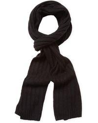"Portolano - Rib Knit Long Scarf, 68"" X 11"" - Lyst"