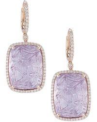 Dana Rebecca - Designs Courtney Lauren 14k Rose Gold 55.13 Ct. Tw. Diamond & Amethyst Drop Earrings - Lyst