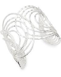 Saks Fifth Avenue - Hammered Open Bracelet - Lyst