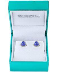 Effy - Super Buy 14k White Gold, Diamond And Tanzanite Stud Earrings - Lyst