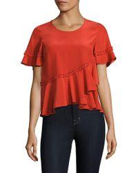 The Cheapest Cheap Price Light blue Hydra blouse Diane Von Fürstenberg Discount 2018 Newest Cheap Price Cost CjSIc