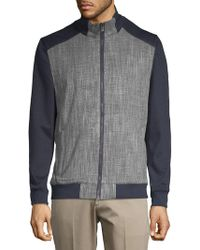 Vince Camuto - Scratch Weave Bomber Jacket - Lyst