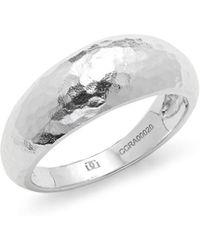 Gurhan - Hammered Sterling Silver Ring - Lyst