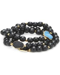 Alanna Bess Jewelry - Druzy & Agate Friendship Bracelet (set Of 2) - Lyst