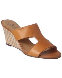 French Sole - Hurricane Leather Wedge Sandal - Lyst