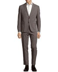 Giorgio Armani - Houndstooth-print Long-sleeve Suit - Lyst