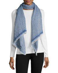 La Fiorentina - Textured Cotton-blend Scarf - Lyst